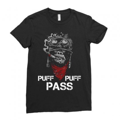 Puff Puff Pass Ladies Fitted T-shirt Designed By Sabriacar