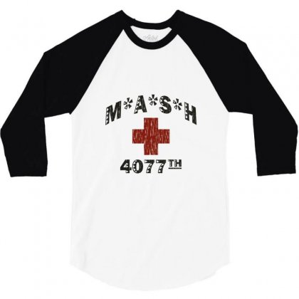 Mash 4077th Tv Division Vintage Style 3/4 Sleeve Shirt Designed By Mdk Art