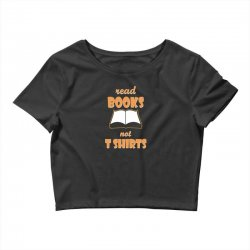 humor book t shirt Crop Top | Artistshot