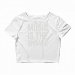 music is the answer Crop Top | Artistshot