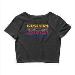 Anti Trump Science is Real Black Lives Matter T shirt Crop Top   Artistshot