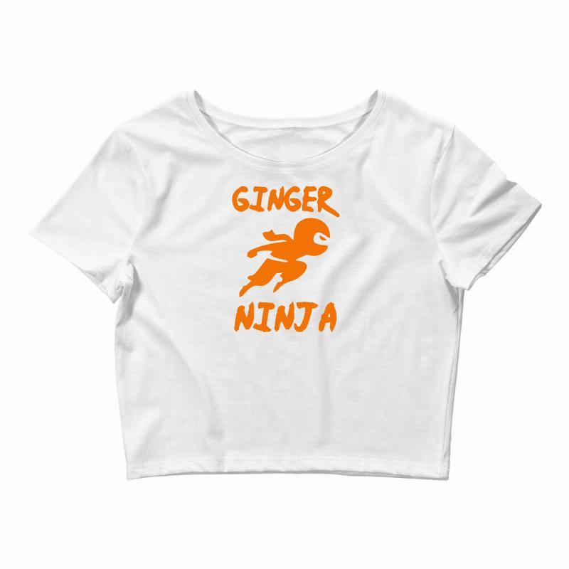 3149f318 Custom Ginger Ninja Funny Crop Top By Mdk Art - Artistshot