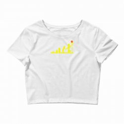 evolution lego basketball sports funny Crop Top | Artistshot