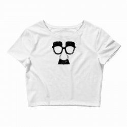 comedy fancy dress moustache funny Crop Top | Artistshot