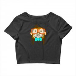 geek monkey Crop Top | Artistshot