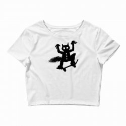 wild thing on a skateboard Crop Top | Artistshot