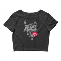 screaming wolf love you Crop Top | Artistshot