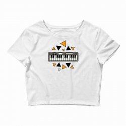 music,keyboard,electronic,piano,triangle,reflections,cute,vectorart, Crop Top | Artistshot