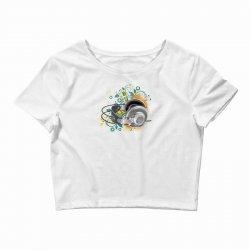 Music Animated Headphones Tshirt Crop Top | Artistshot