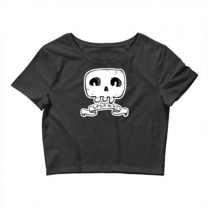 Spooky Skull Crop Top Designed By Specstore