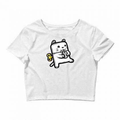 Robo Cat Crop Top Designed By Specstore