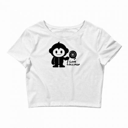 Monkeystein And Lollipop Crop Top Designed By Specstore