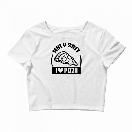 I Love Pizza Tee Crop Top Designed By Specstore