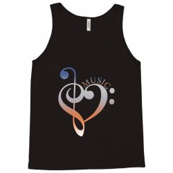 music expresses clef heart girls Tank Top | Artistshot