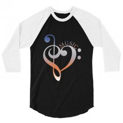 music expresses clef heart girls 3/4 Sleeve Shirt | Artistshot