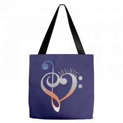 music expresses clef heart girls Tote Bags | Artistshot