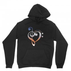 music expresses clef heart girls Unisex Hoodie | Artistshot