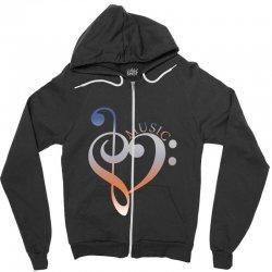 music expresses clef heart girls Zipper Hoodie | Artistshot
