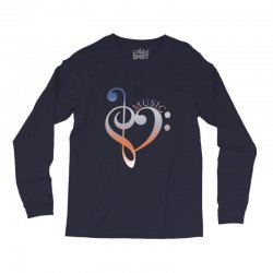music expresses clef heart girls Long Sleeve Shirts | Artistshot