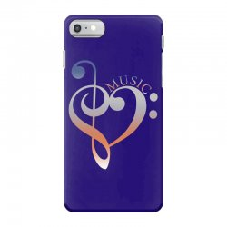 music expresses clef heart girls iPhone 7 Case | Artistshot