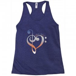 music expresses clef heart girls Racerback Tank | Artistshot