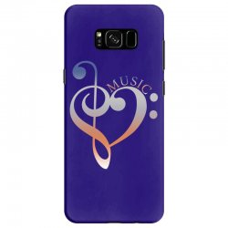 music expresses clef heart girls Samsung Galaxy S8 Case | Artistshot
