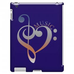 music expresses clef heart girls iPad 3 and 4 Case | Artistshot