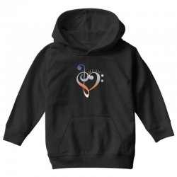 music expresses clef heart girls Youth Hoodie | Artistshot