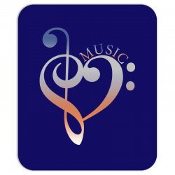 music expresses clef heart girls Mousepad | Artistshot