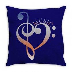 music expresses clef heart girls Throw Pillow | Artistshot