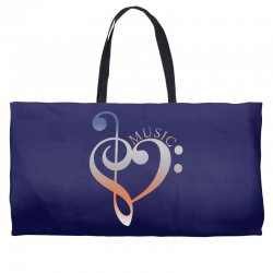 music expresses clef heart girls Weekender Totes | Artistshot