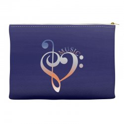 music expresses clef heart girls Accessory Pouches | Artistshot