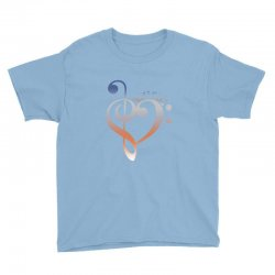 music expresses clef heart girls Youth Tee | Artistshot