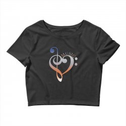music expresses clef heart girls Crop Top | Artistshot