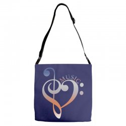 music expresses clef heart girls Adjustable Strap Totes | Artistshot