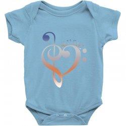 music expresses clef heart girls Baby Bodysuit | Artistshot