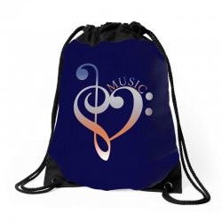 music expresses clef heart girls Drawstring Bags | Artistshot