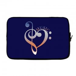 music expresses clef heart girls Laptop sleeve | Artistshot