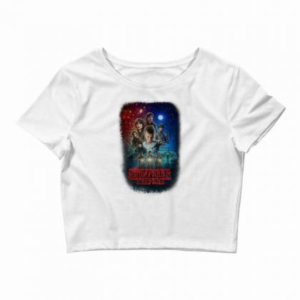 Stranger Things Poster Crop Top Designed By Vr46
