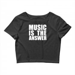 music is the answer printed Crop Top | Artistshot