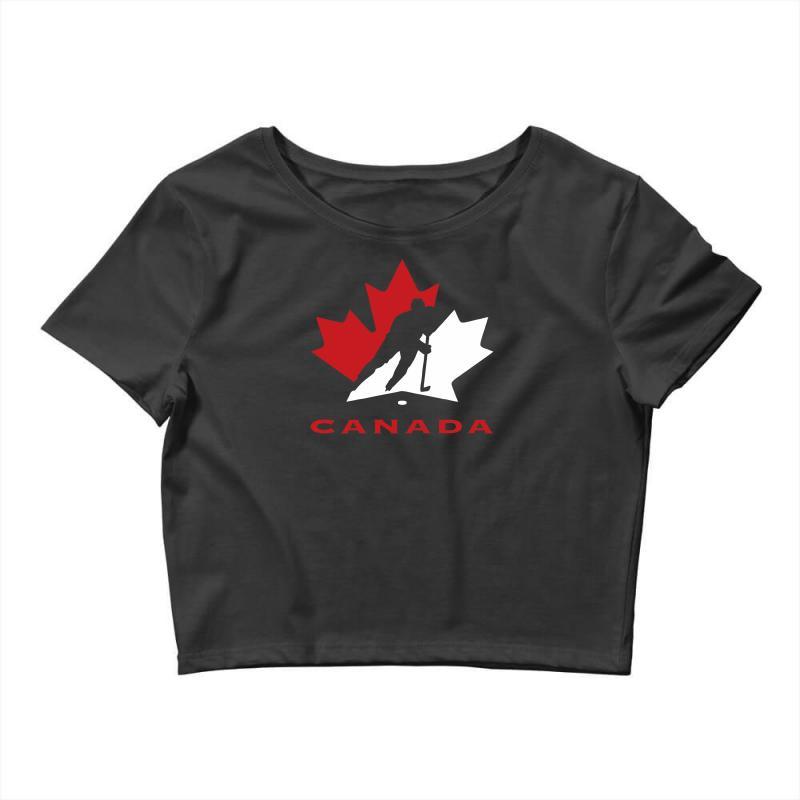 Hockey Canada Crop Top   Artistshot
