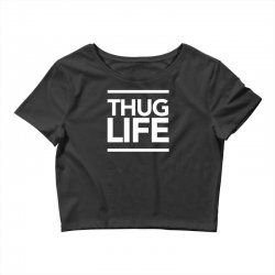thug life Crop Top   Artistshot