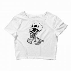 screaming skull Crop Top | Artistshot