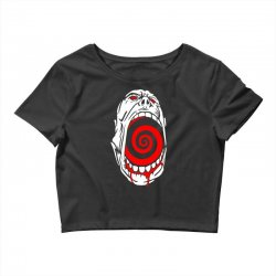 screaming face Crop Top | Artistshot
