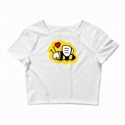 love bee lover valentine Crop Top | Artistshot