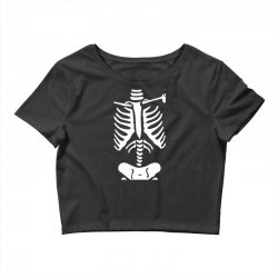 funny bone skeleton Crop Top | Artistshot