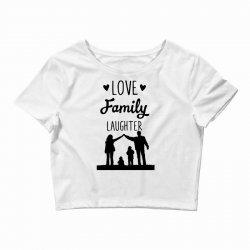 love family laughter Crop Top   Artistshot