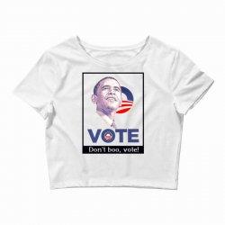 Vote Obama Crop Top   Artistshot