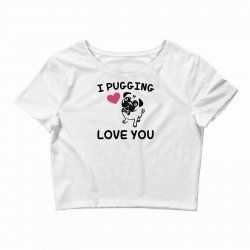 love you  pug Crop Top | Artistshot