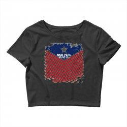 USA Flag Vector Crop Top | Artistshot